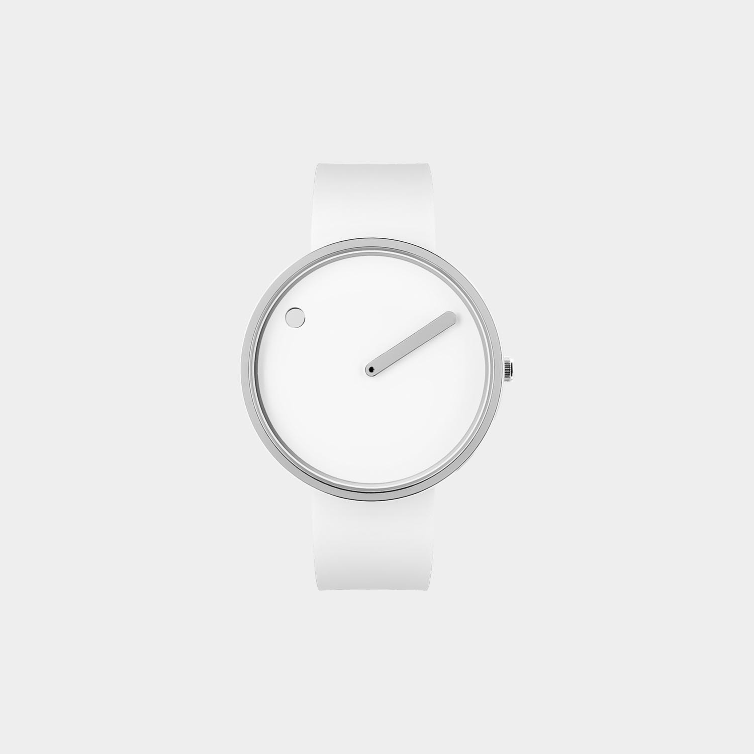 PICTO® Watch 40mm White / Polished Steel