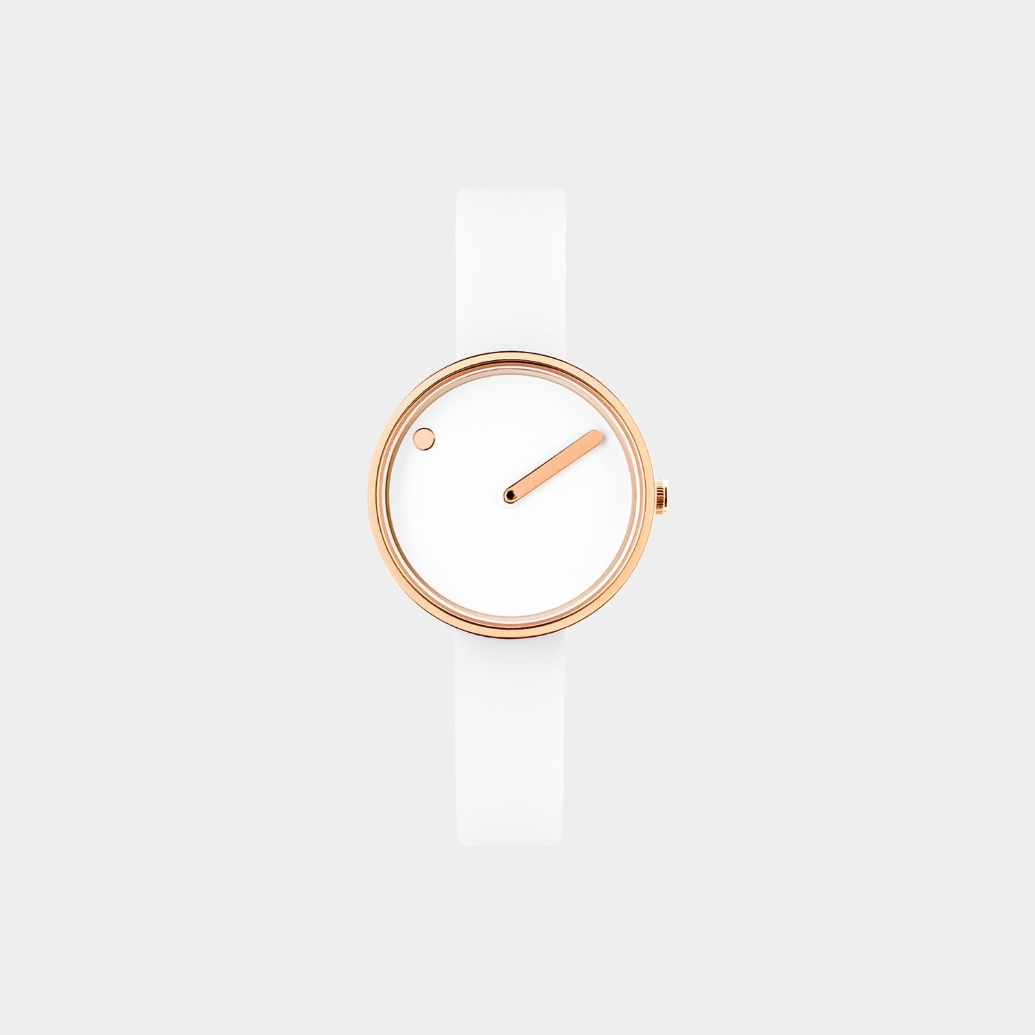 PICTO® Watch 30mm White / Polished Rose Gold
