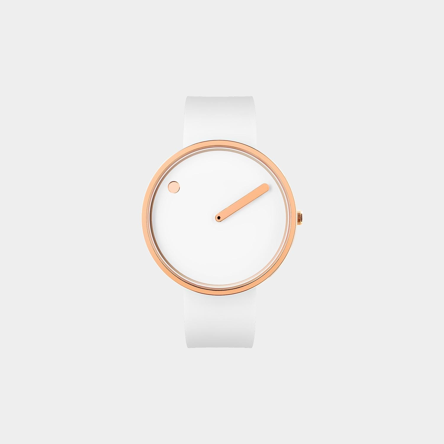 PICTO® Watch 40mm White / Polished Rose Gold