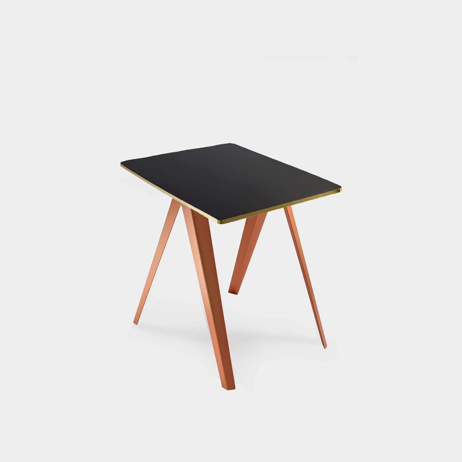 Sanba Table, Black/Gold Top, Pink Structure