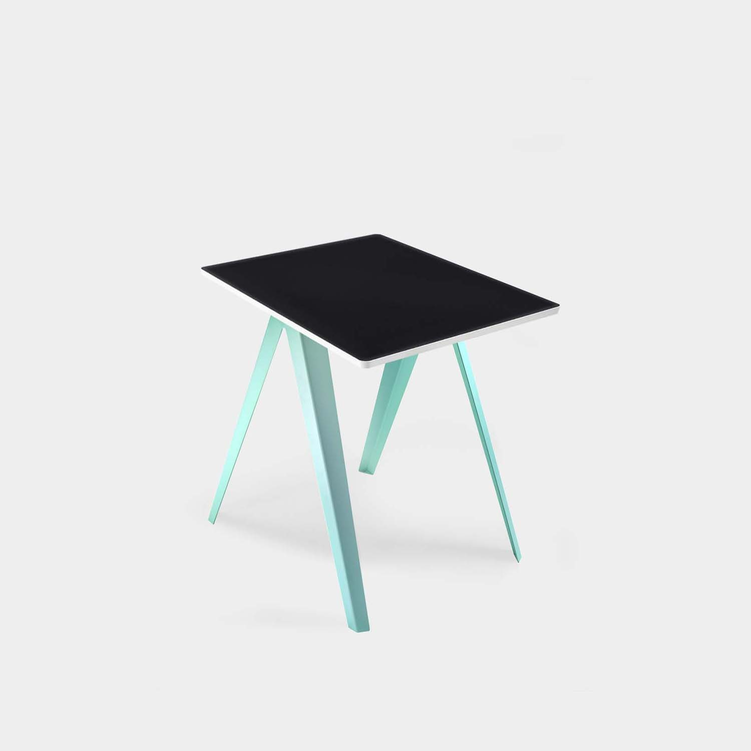 Sanba Table, Black/White Top, Green Structure