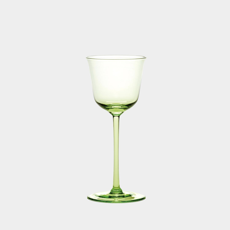 White Wine Glass, Grace, Green