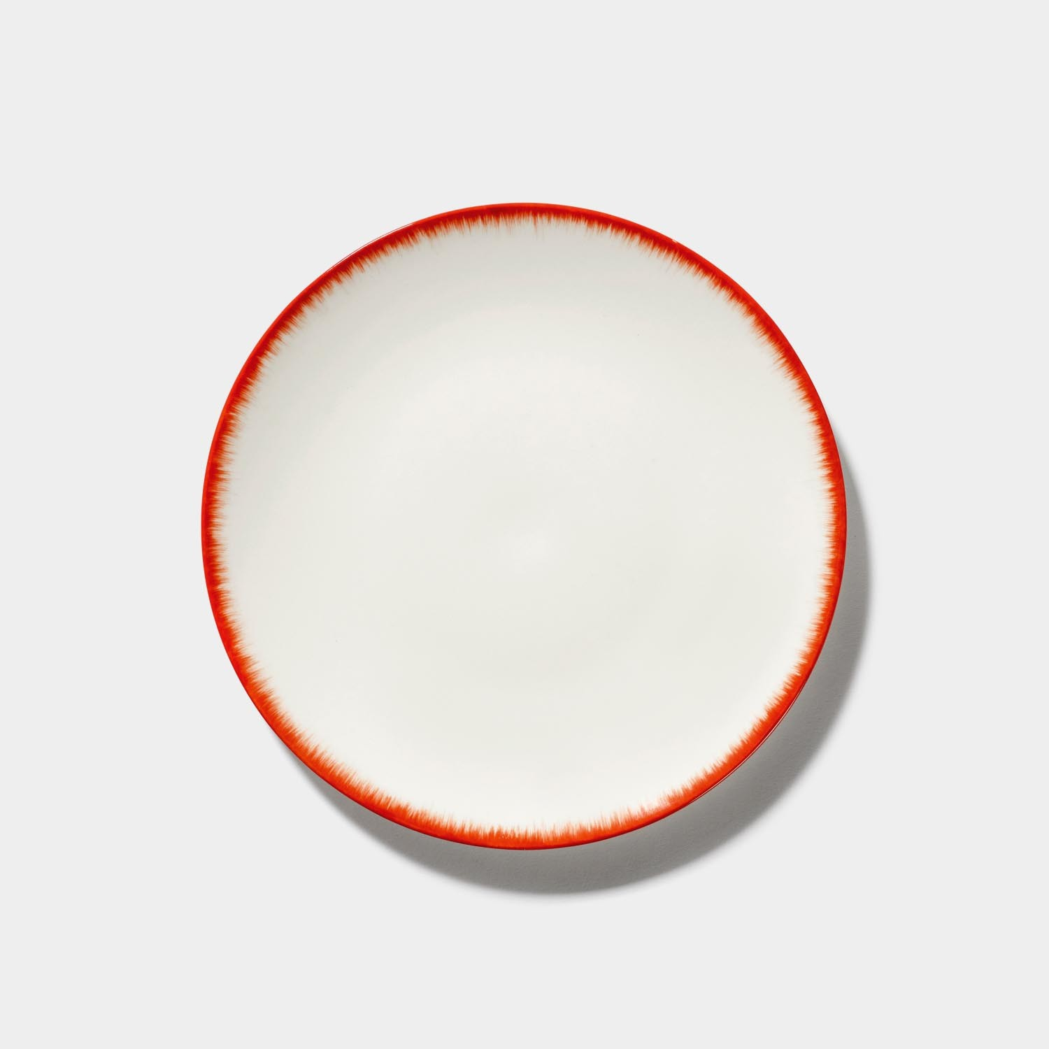 Dé Plate, Off-White/Red Var 2