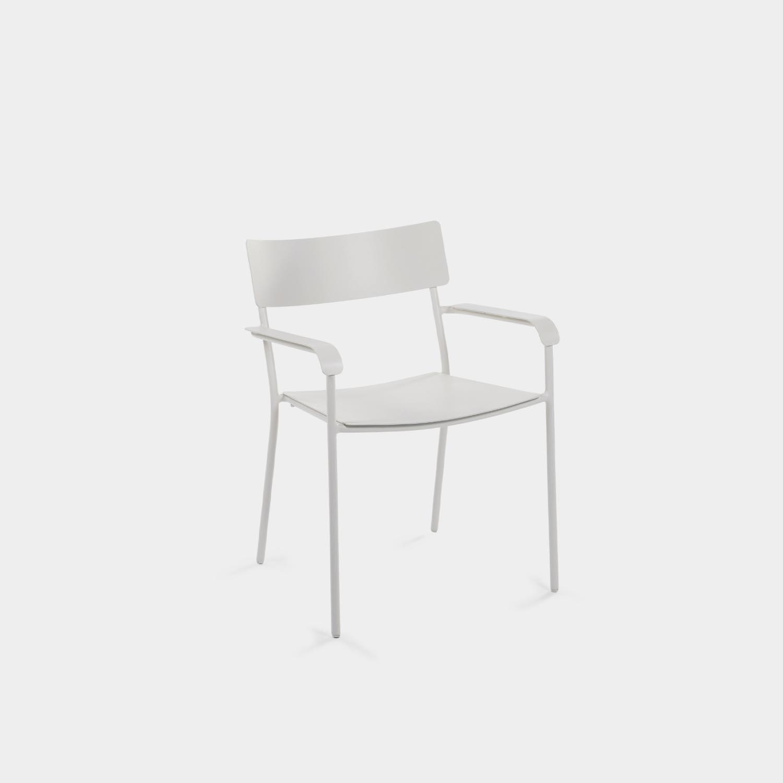 August Armchair, White