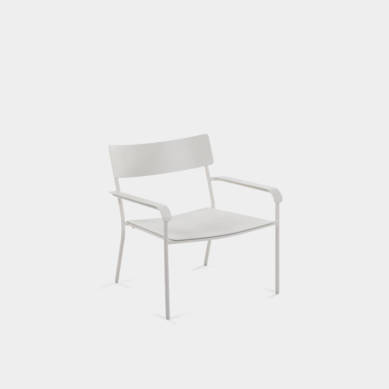 August Lounge Chair, White