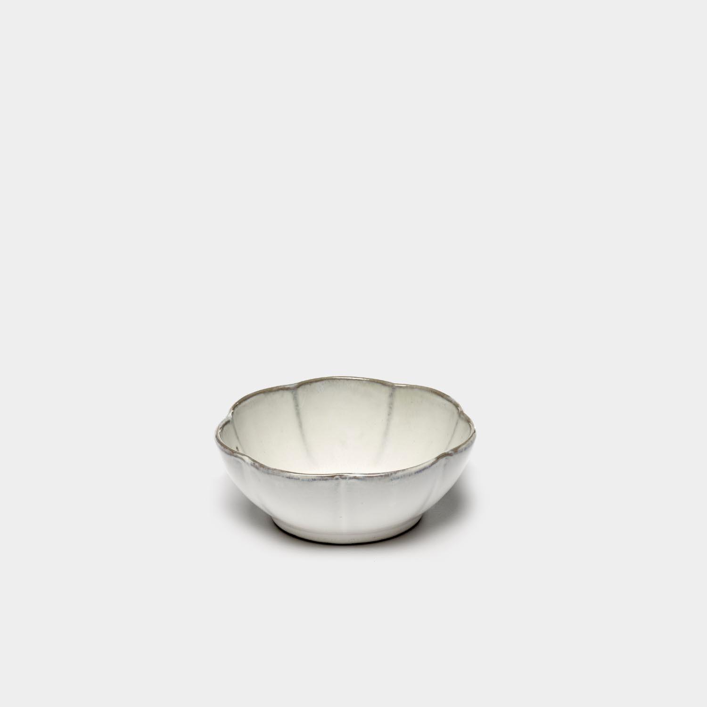 Bowl Inku Ribbed, White, Large