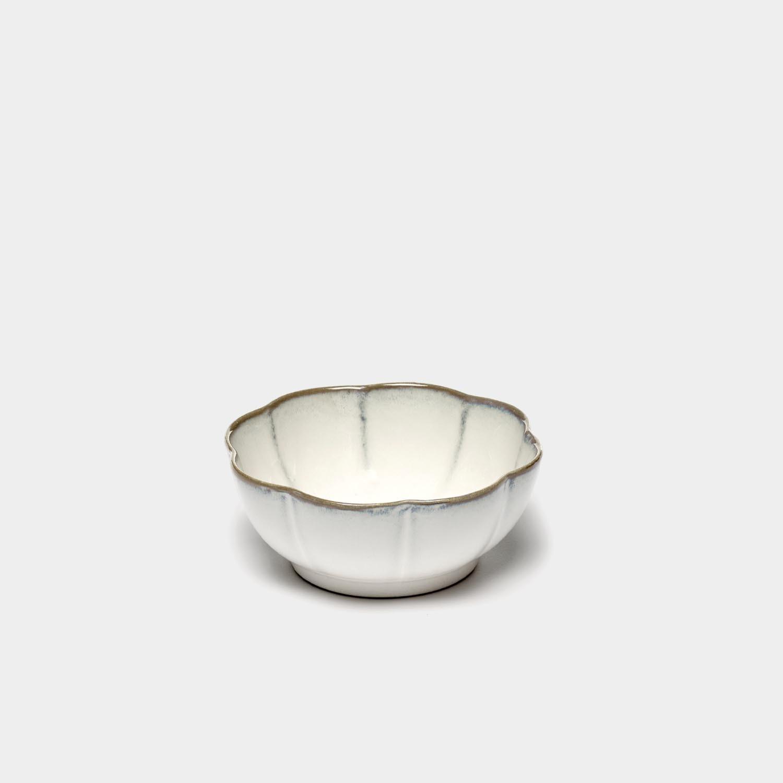 Bowl Inku Ribbed, White, Extra-Large