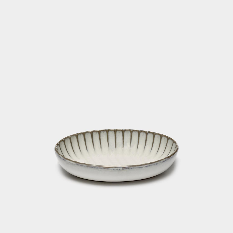 Oval Serving Bowl Inku, White, Medium