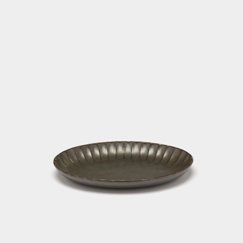 Oval Serving Bowl Inku, Green, Large