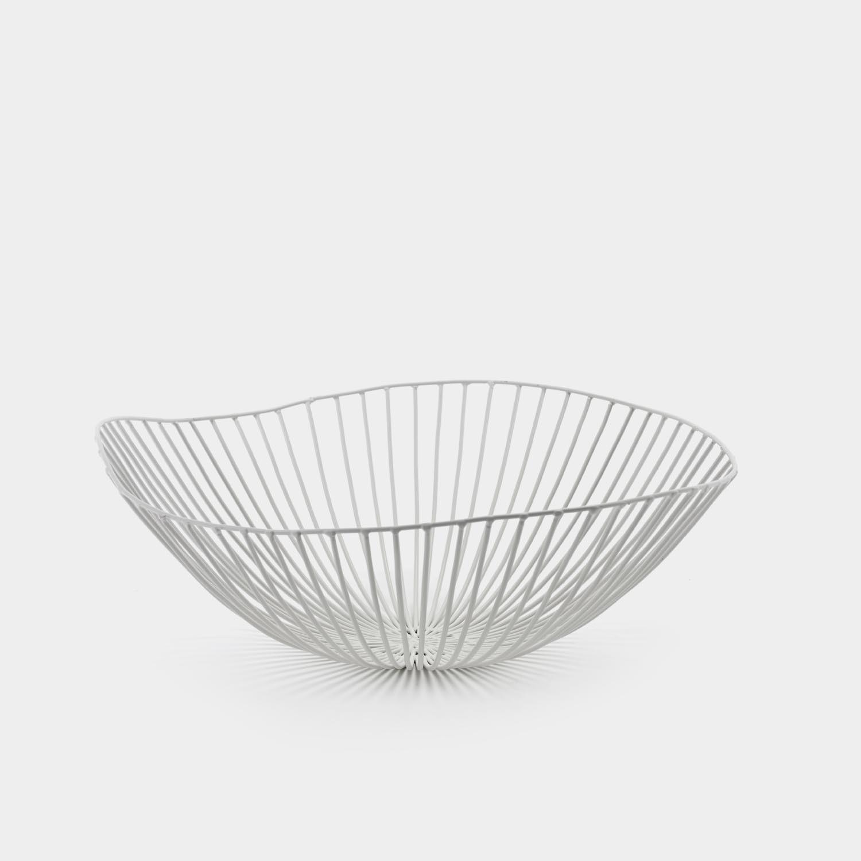 Cesira Fruit Basket, White