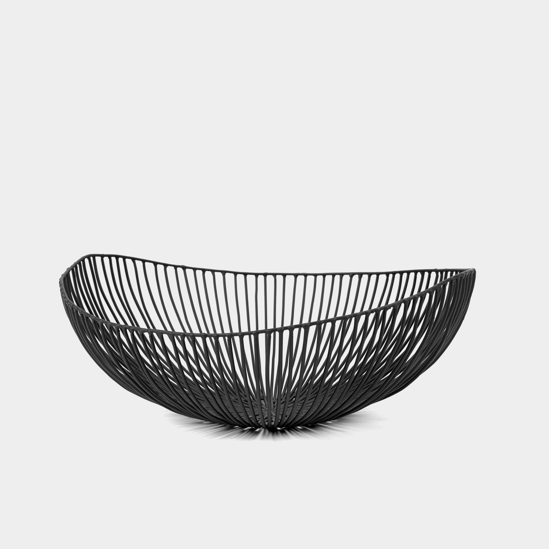 Meo Fruit Basket, Black