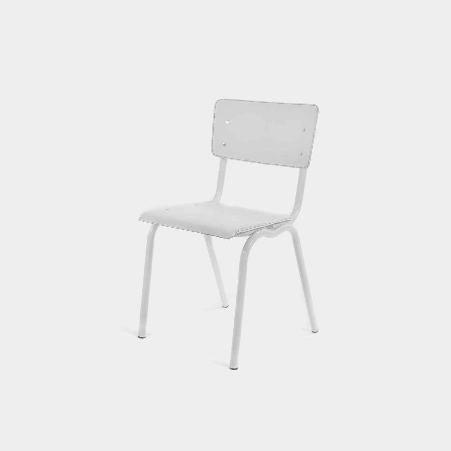 Vinyl-Vinyl Chairs, White