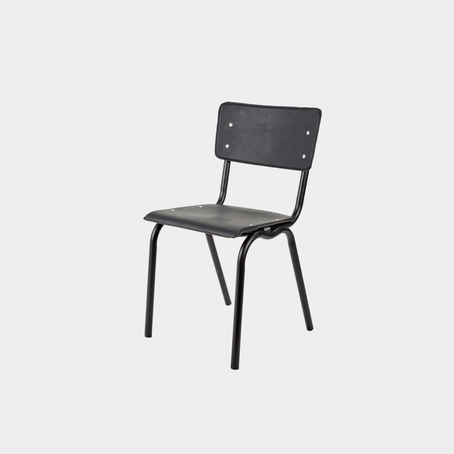 Vinyl-Vinyl Chairs, Black/Black