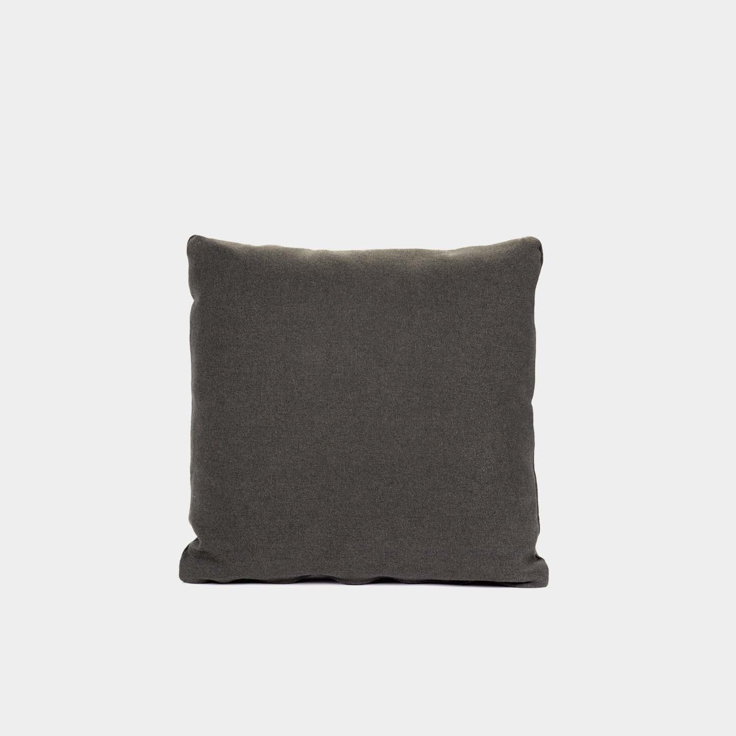 Decorative Cushion, Square, Black Brown Cotton