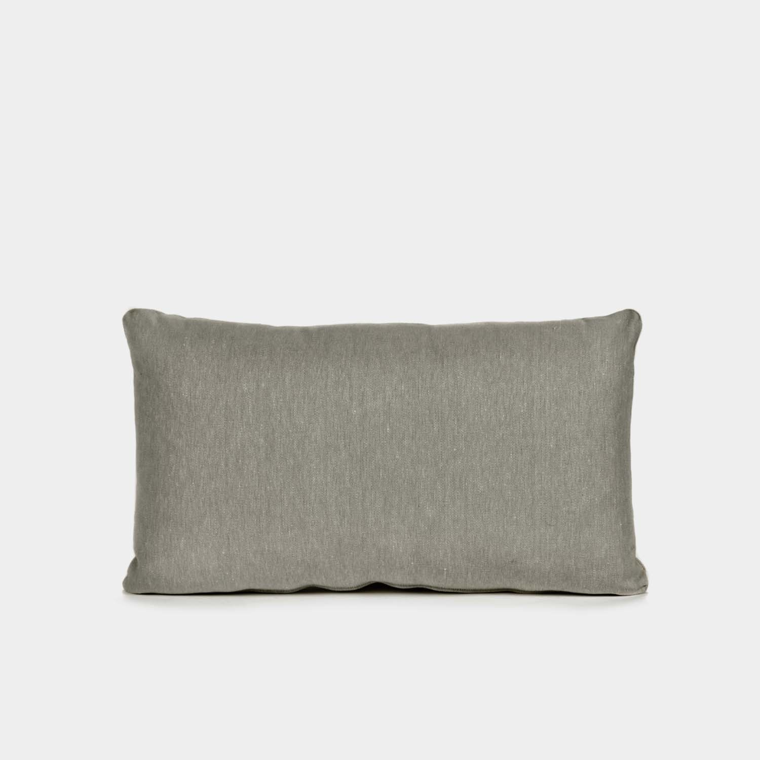 Decorative Cushion, Rectangular, Taupe Linen