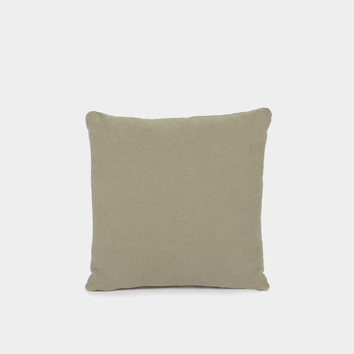 Decorative Cushion, Square, Olive Linen