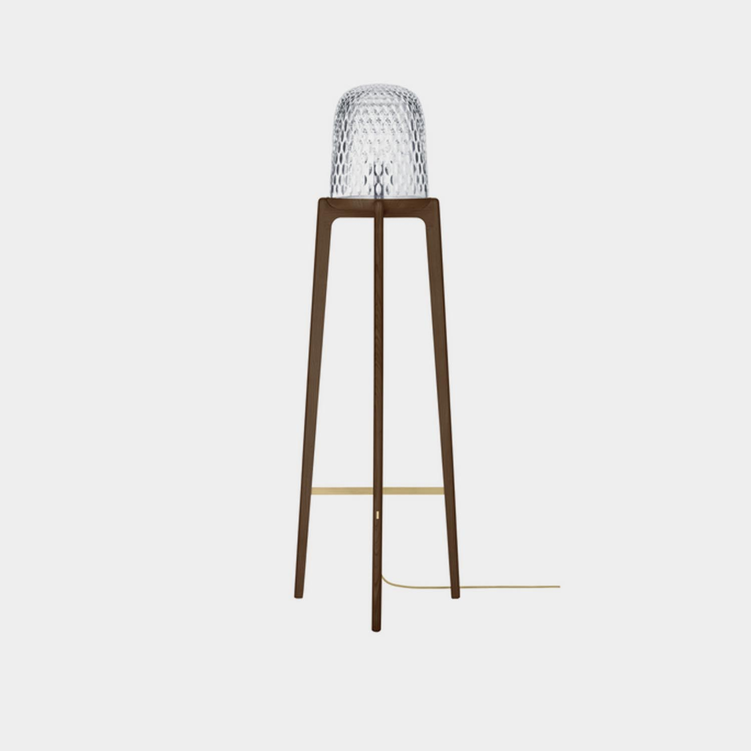 Floor Lamp Folia Tall, Dark Ash