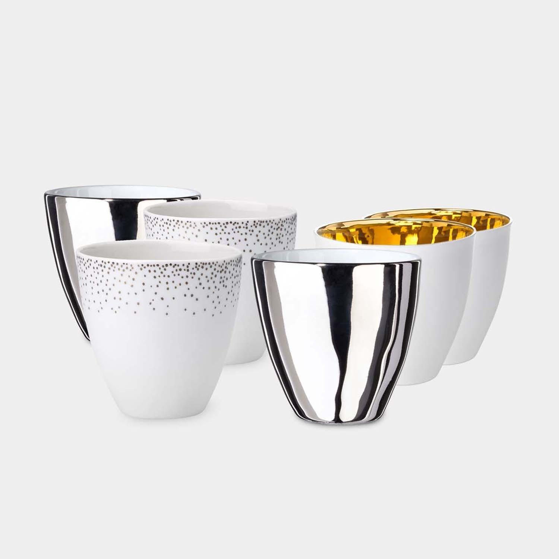Set of Six Assorted Tea Cups