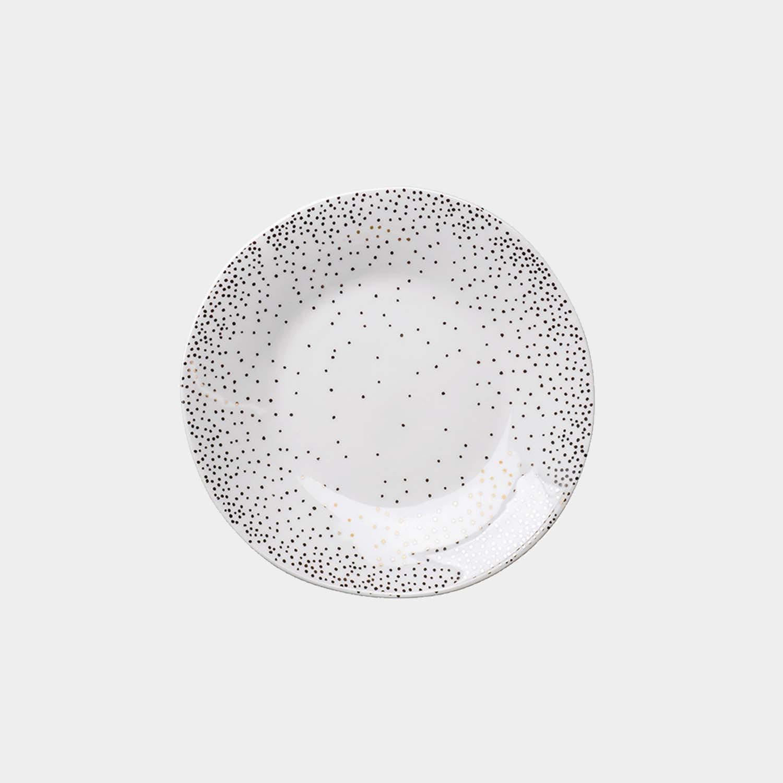 Dessert Plate Platinum Confettis