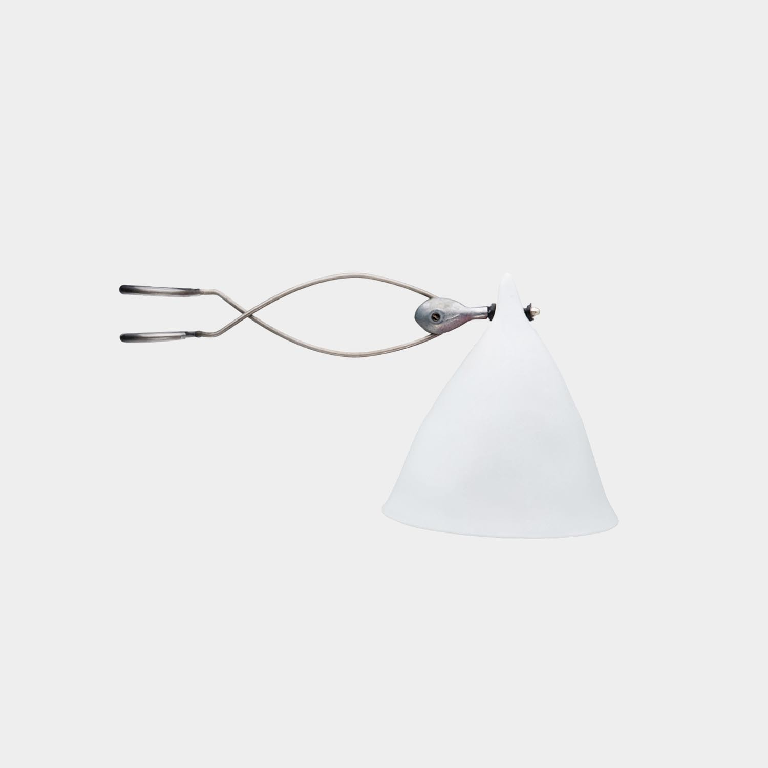 Clip-on Lamp Cornet Wimple Shade, Porcelain
