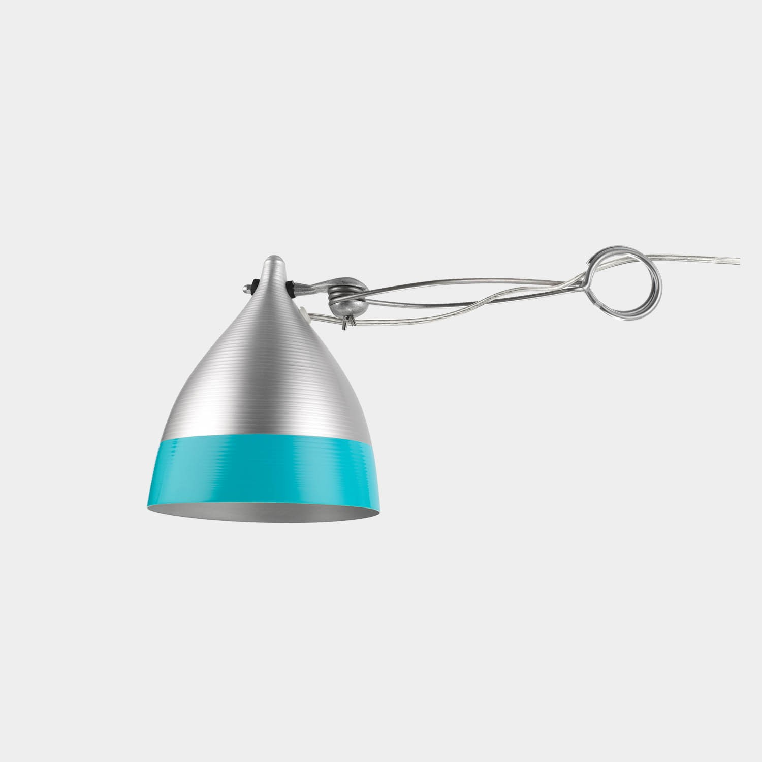 Clip-on Lamp Cornet Wimple Shade, Bicolor