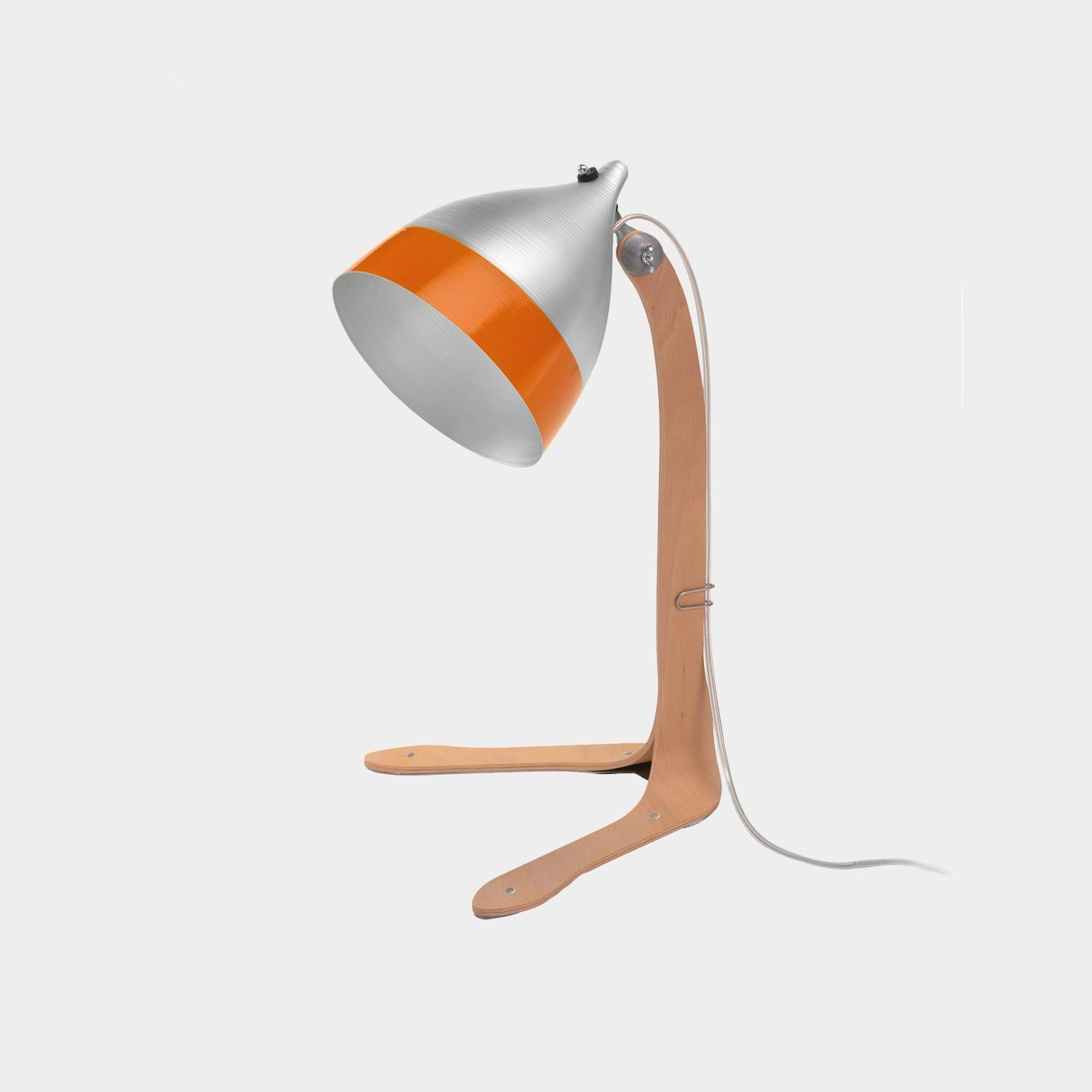 Table Lamp Cornet Wimple Shade, Bicolor