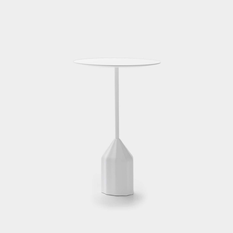 Burin Mini Side Table, White