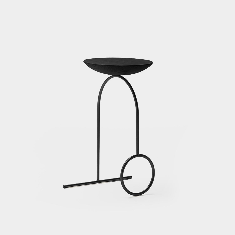 Giro Sculpture Table, Black