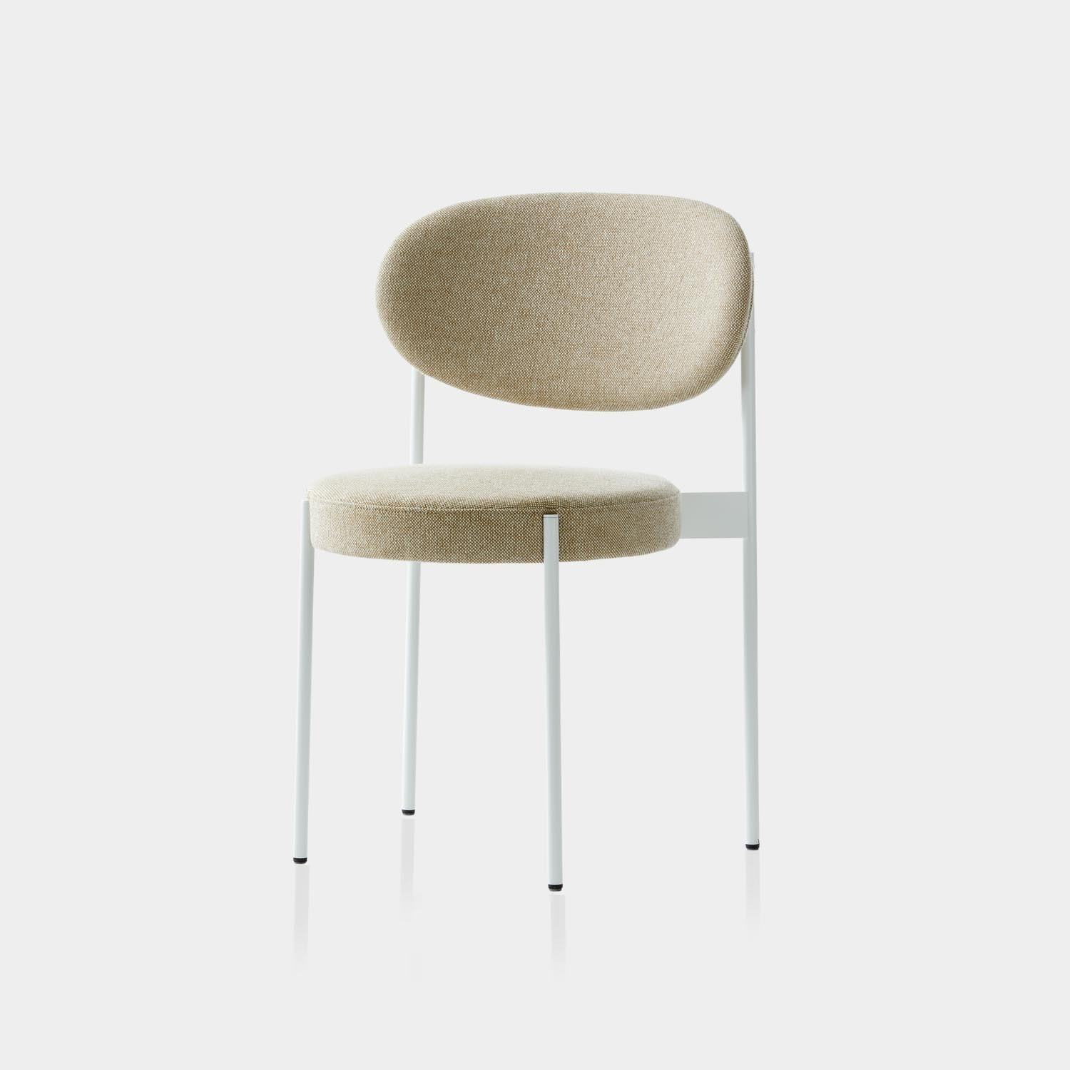 Series 430 Dining Chair, White Frame, Hallingdal Wool Upholstery