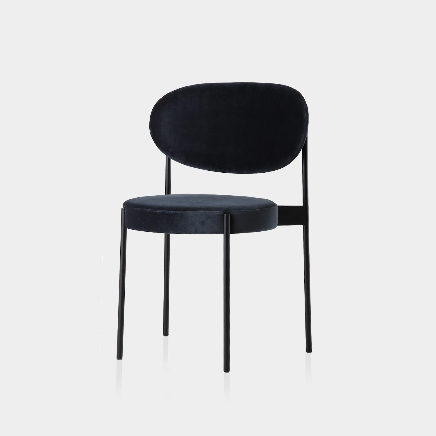 Series 430 Dining Chair, Black Frame, Harald 3 Velour