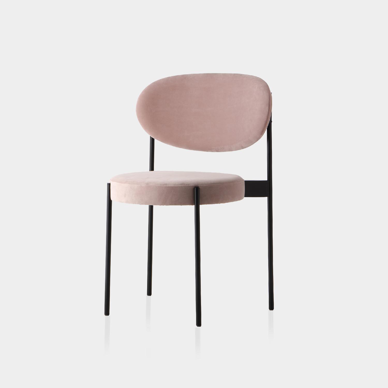 Series 430 Dining Chair, Black Frame, Sweet Lovin Velour Upholstery