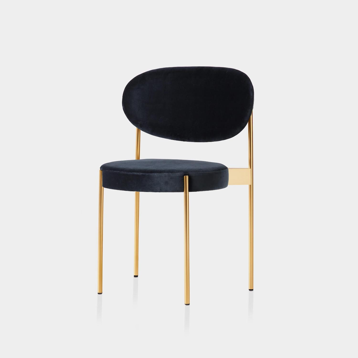 Series 430 Chair, Brass Frame, Harald Velour