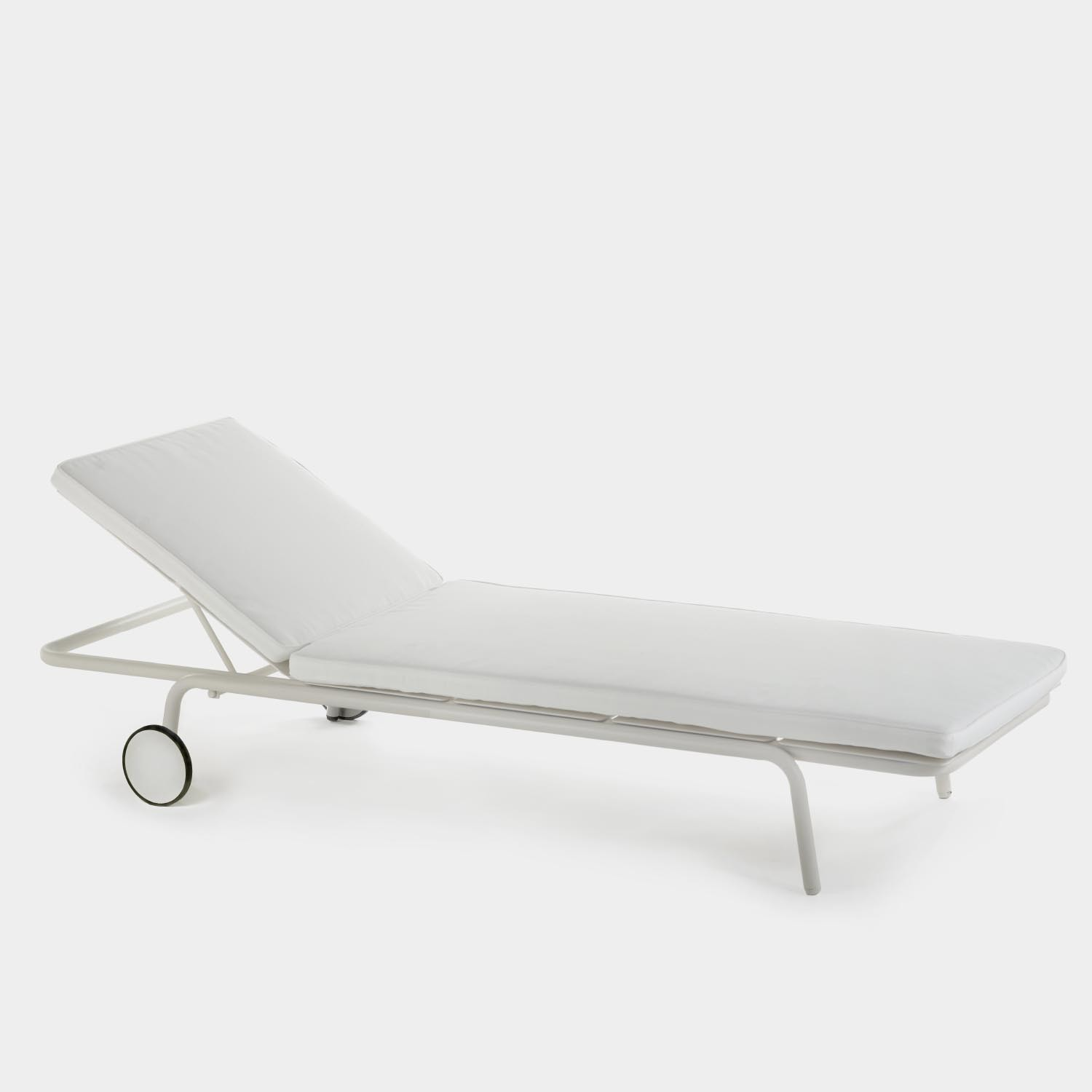 August Sunlounger, Sand, with cushion
