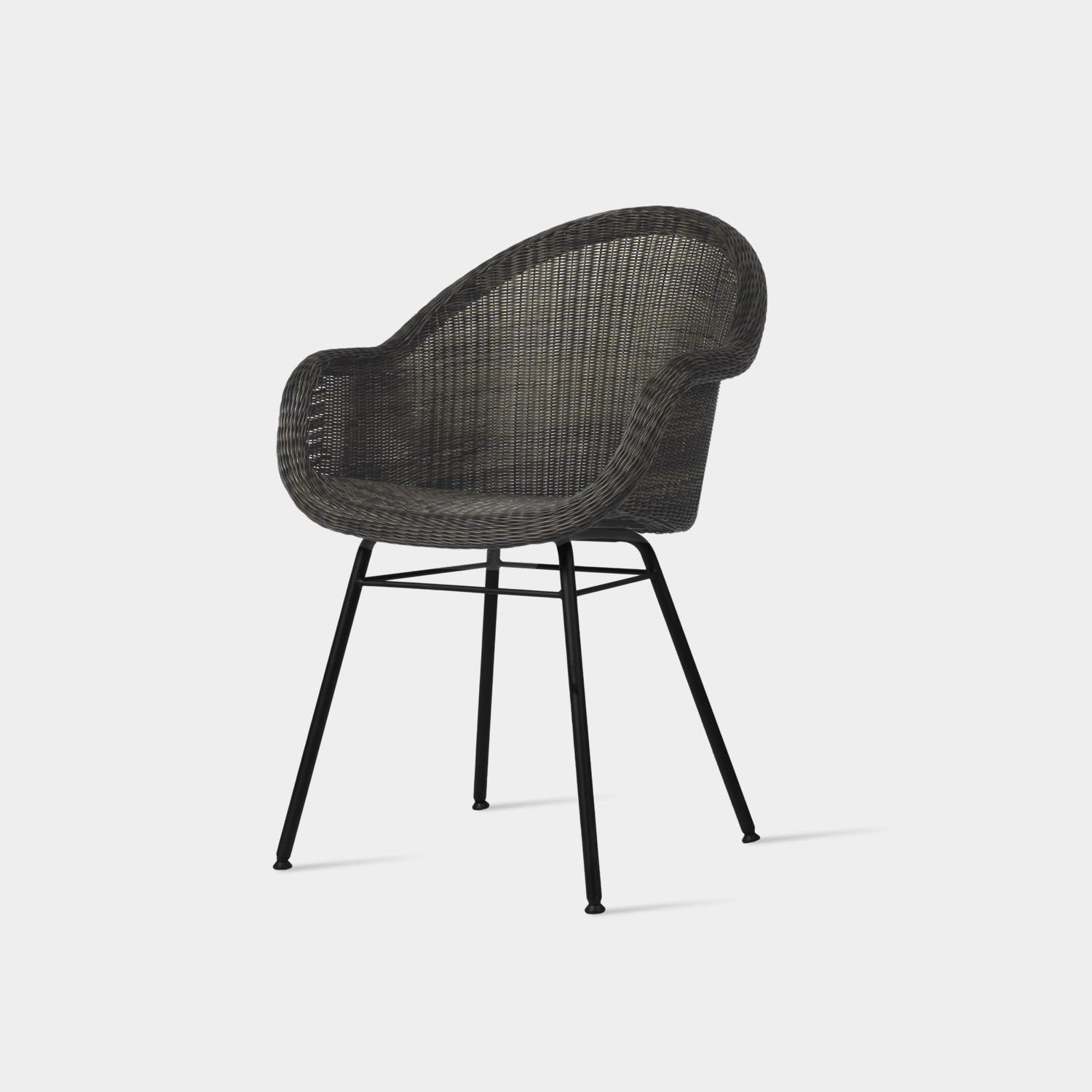 Edgar Dining Chair, Steel Base, Mocca