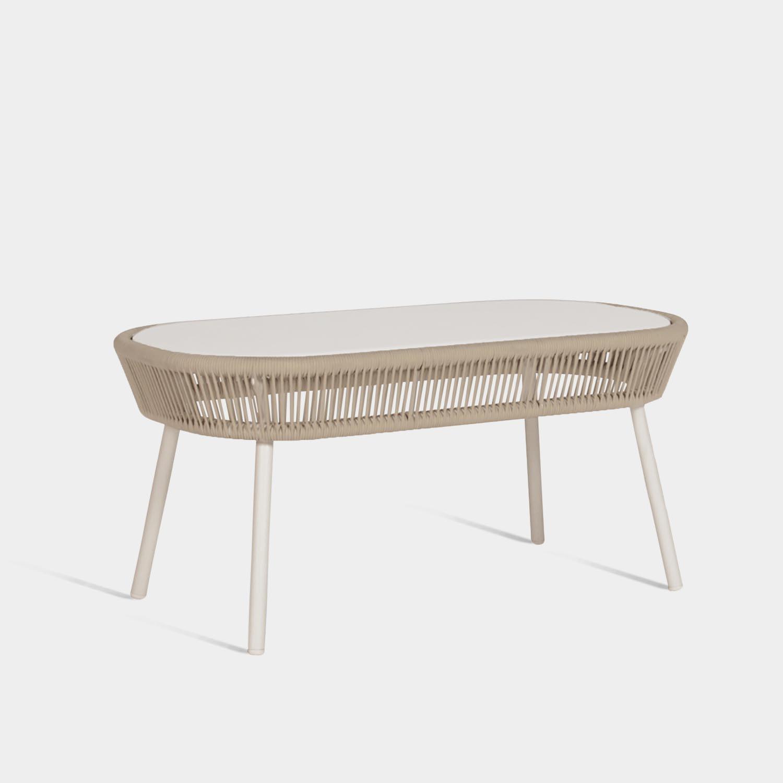 Loop Coffee Table, Beige/Stone White