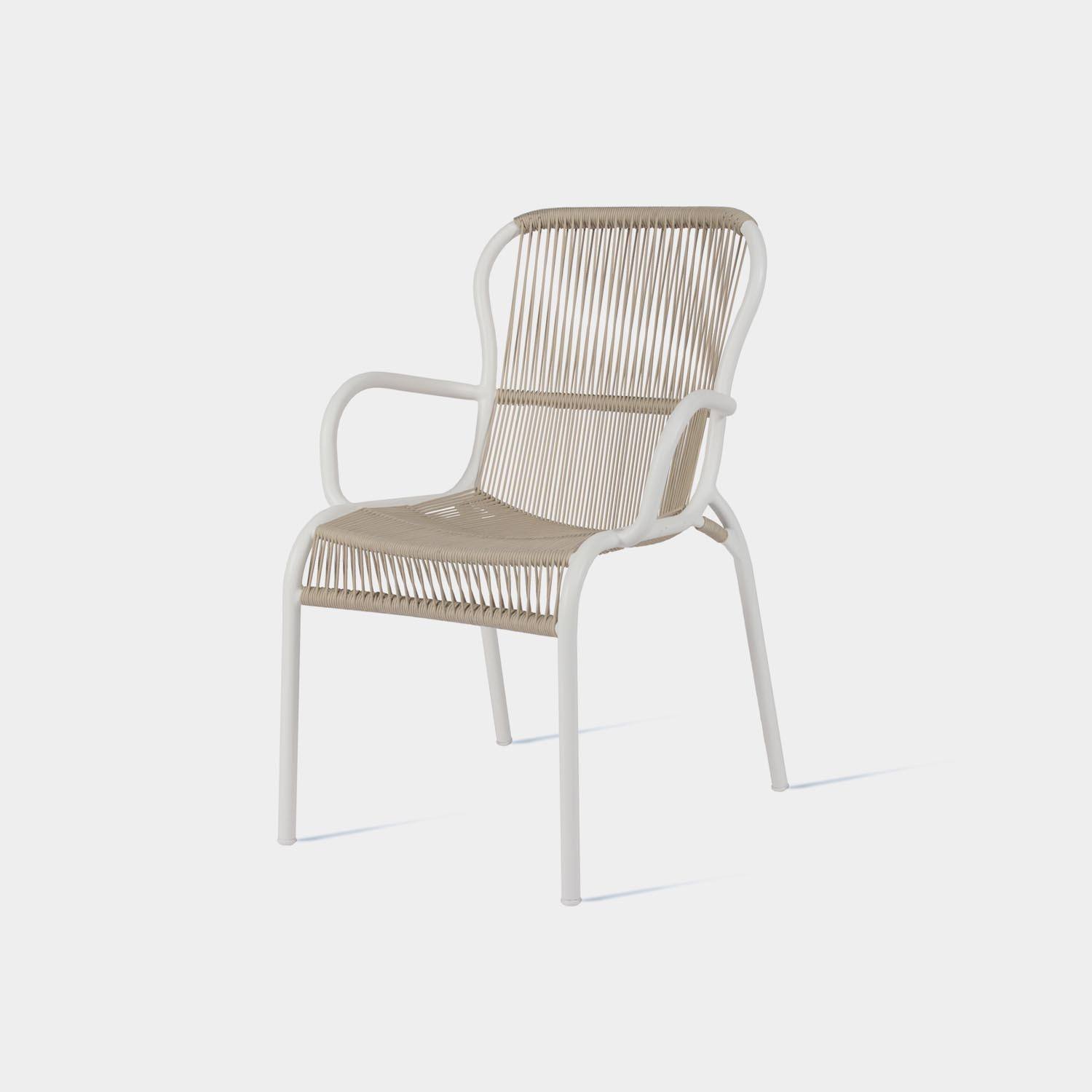 Loop Dining Chair, Beige/Stone White