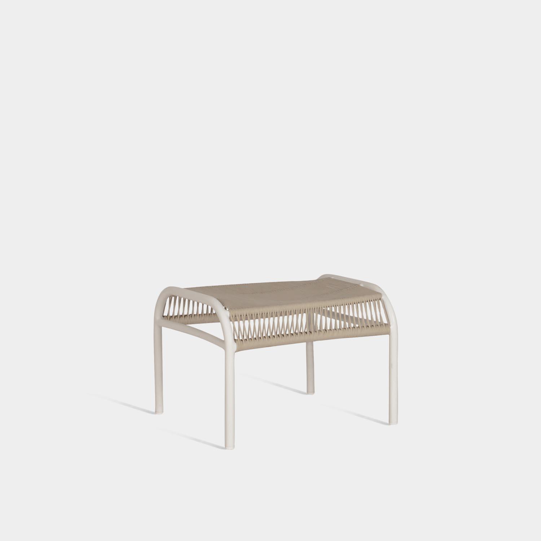 Loop Footrest, Beige/Stone White