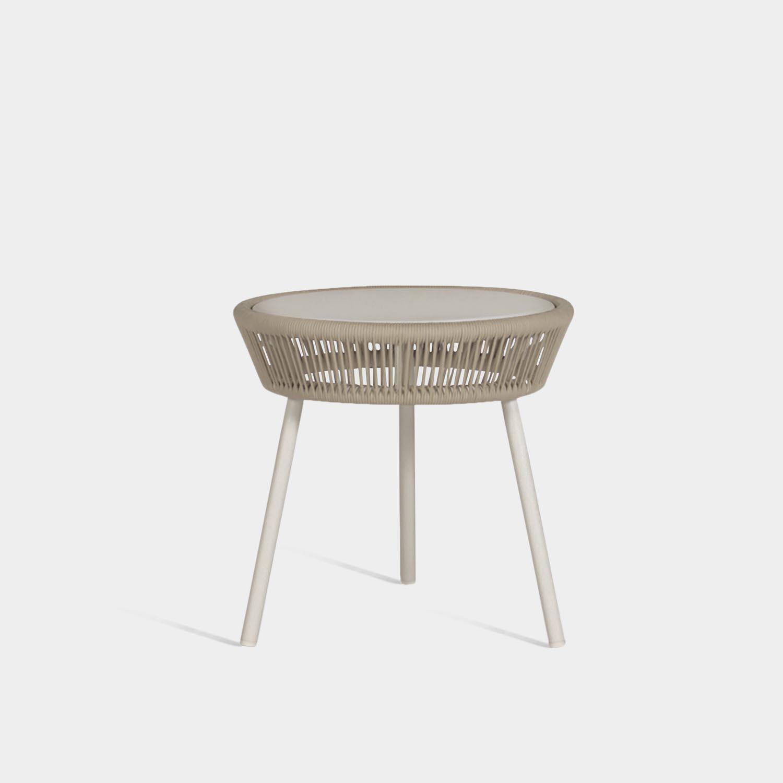 Loop Side Table, Beige/Stone White