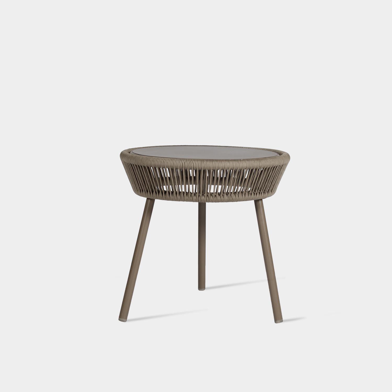 Loop Side Table, Taupe