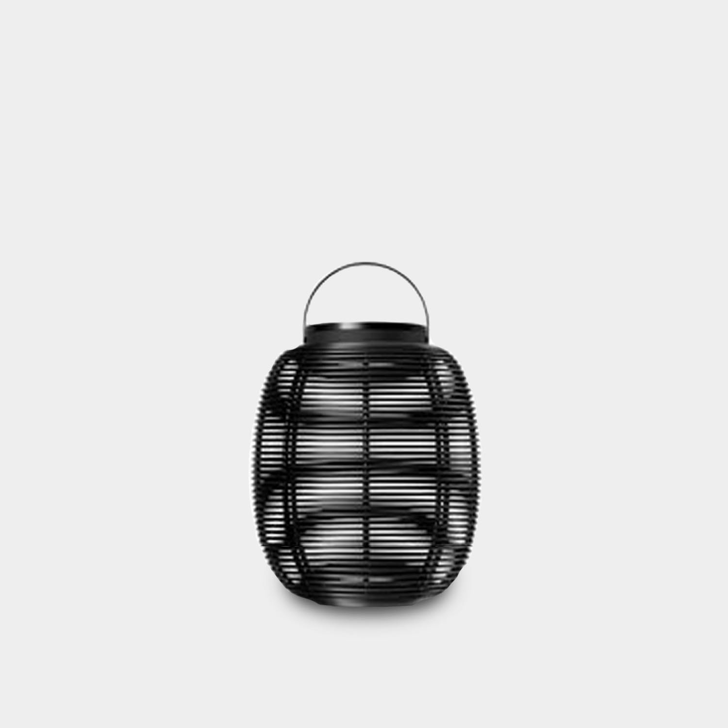 Tika Solar Lantern, Small, Black