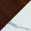 White Marble Legs / Walnut Top
